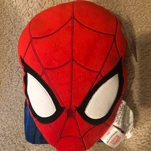 Spider-Man pillow and blanket